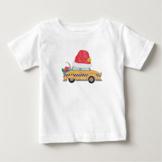 Christmas yellow cab with gifts baby T-Shirt