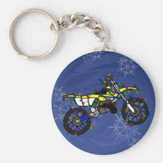 Christmas Yellow Dirt Bike Key Chains