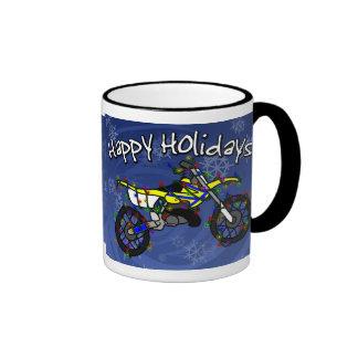 Christmas Yellow Dirt Bike Mug