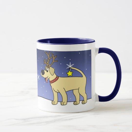 Christmas Yellow Lab Coffee Mug