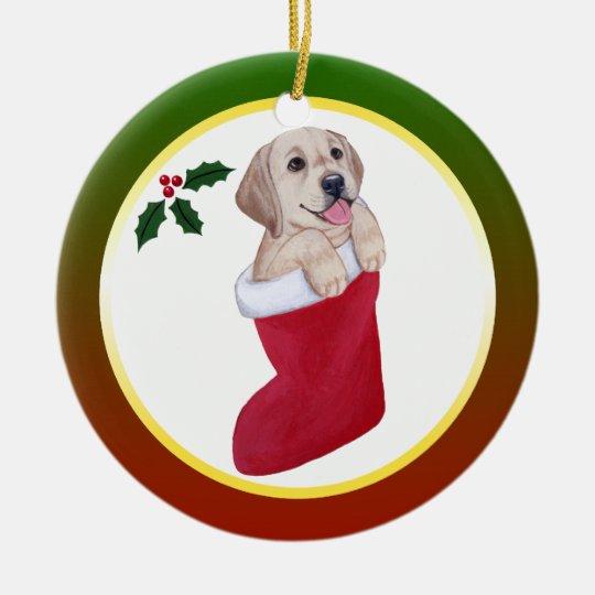 Christmas Yellow Labrador Ornament