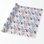 Christmas Yellow Labrador Puppy Wrapping Paper
