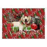 Christmas - Yellow Labrador - Strider Greeting Cards