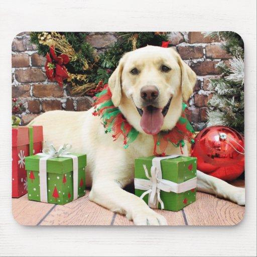 Christmas - Yellow Labrador - Strider Mousepads