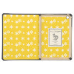 Christmas yellow snowflakes pattern iPad air covers