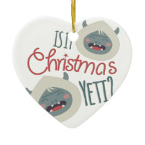 Christmas Yeti Ceramic Ornament