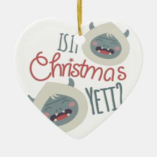 Christmas Yeti Ceramic Ornament