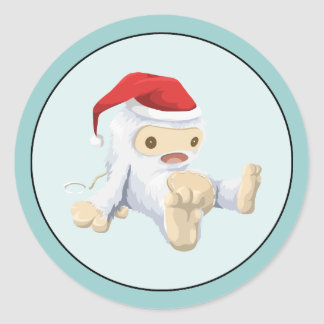 Christmas Yeti Stickers | Zazzle