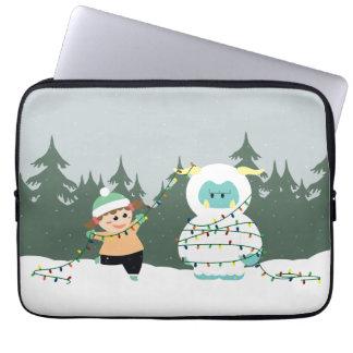 Christmas Yeti Laptop Computer Sleeve