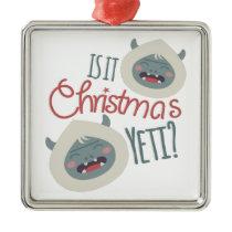 Christmas Yeti Metal Ornament