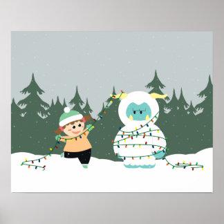 Christmas Yeti Poster