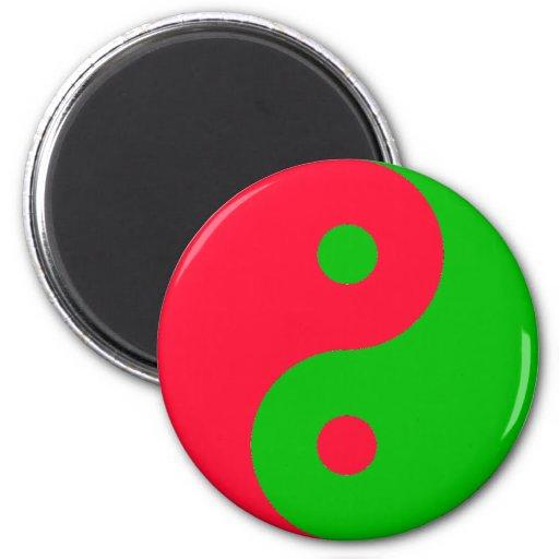 Christmas Yin Yang Magnet