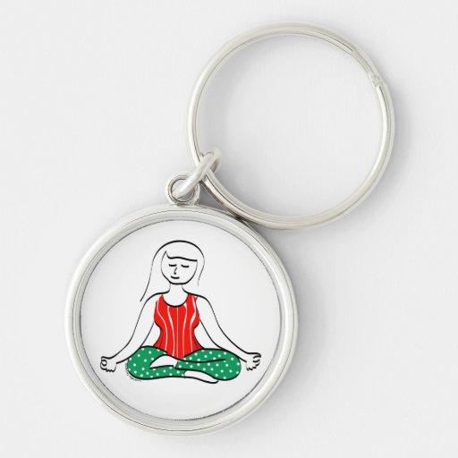 Christmas Yoga Keychain