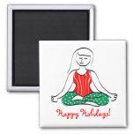 Christmas Yoga Magnet