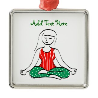 Christmas Yoga Ornament