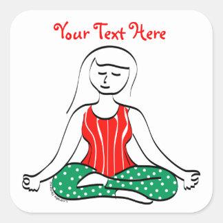 Christmas Yoga stickers