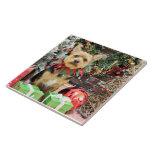 Christmas - Yorki X - Little Bit Ceramic Tile