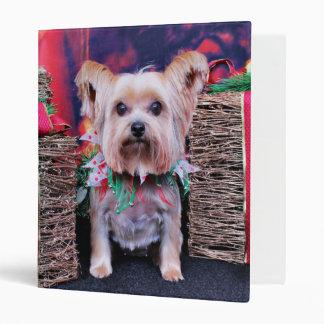 Christmas - Yorkie - Ayla Vinyl Binder