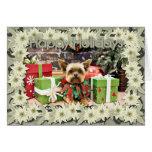Christmas - Yorkie - Bentley Greeting Card