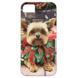 Christmas - Yorkie - Bentley iPhone 5 Cases