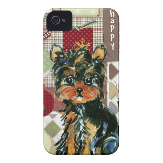 CHRISTMAS YORKIE Case-Mate iPhone 4 CASE