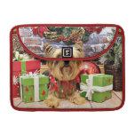 Christmas - Yorkie - Chloe Sleeves For MacBook Pro