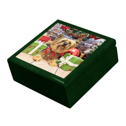 Christmas - Yorkie - Chloe Trinket Box