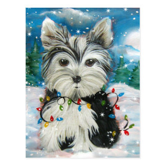 Christmas Yorkie Design Postcard