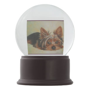 Yorkie Snow Globes Zazzle