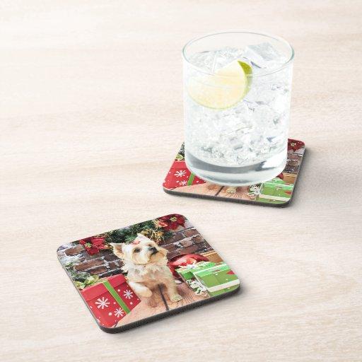 Christmas - Yorkie - Dorie Beverage Coaster
