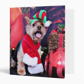 Christmas - Yorkie - Jake 3 Ring Binder