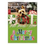Christmas - Yorkie - Junie Greeting Card