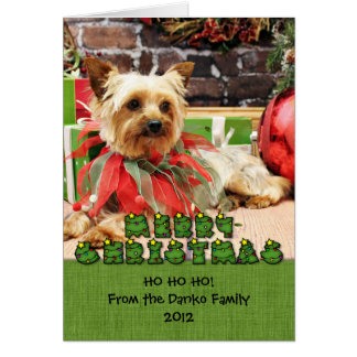 Christmas - Yorkie - Kinsey Card