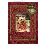 Christmas - Yorkie - Kinsey Greeting Card