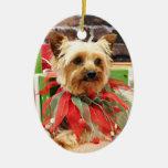 Christmas - Yorkie - Kinsey Ornament