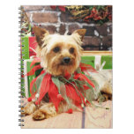 Christmas - Yorkie - Kinsey Spiral Note Books