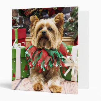 Christmas - Yorkie - Max 3 Ring Binders