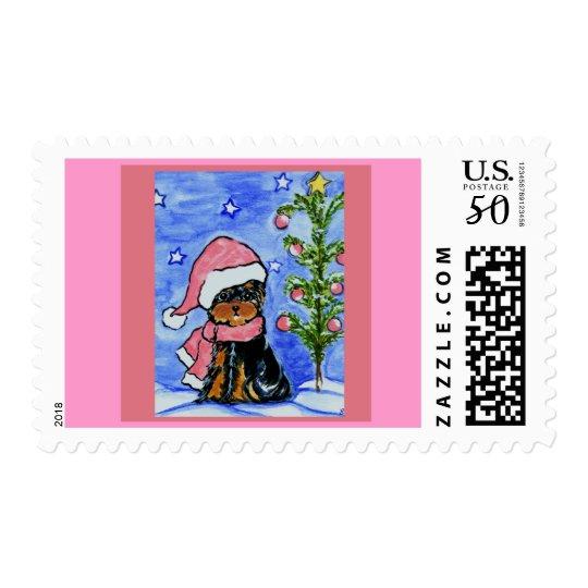 Christmas Yorkie Poo Postage