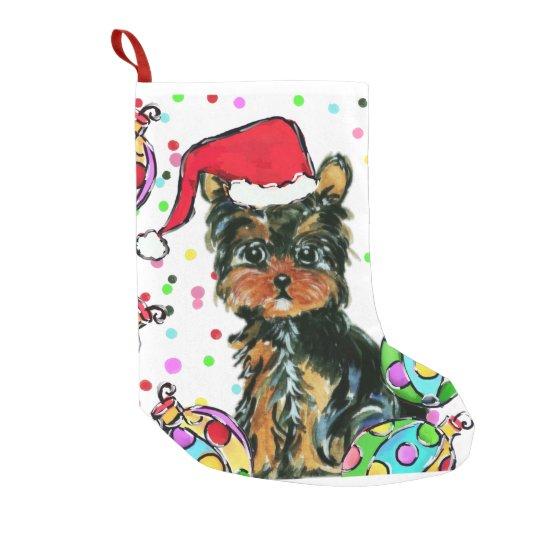 Christmas Yorkie Poo Small Christmas Stocking Zazzle Com