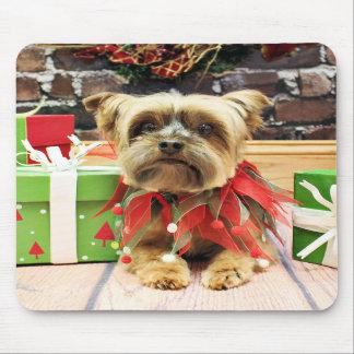 Christmas - Yorkie - Riley Mousepad