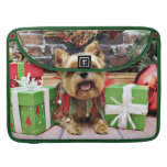 Christmas - Yorkie - Sunny Sleeves For MacBook Pro