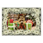 Christmas - Yorkie - Suzy Greeting Card