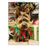 Christmas - Yorkie - Suzy Stationery Note Card