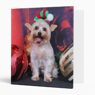 Christmas - Yorkie - Tasha 3 Ring Binder