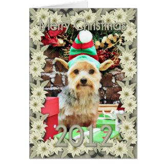Christmas - Yorkie - Vinnie #32 Card