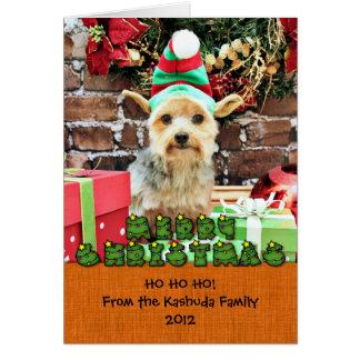 Christmas - Yorkie - Vinnie #32 Stationery Note Card