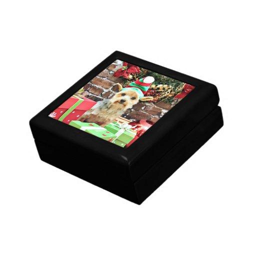 Christmas - Yorkie - Vinnie #32 Keepsake Box