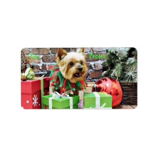 Christmas - Yorkie - Willie Labels