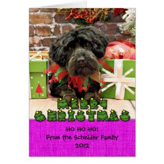 Christmas - YorkiePoo - Hannah Card
