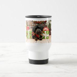 Christmas - YorkiePoo - Hannah Travel Mug